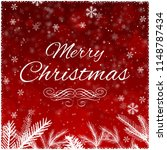 merry christmas greetings on... | Shutterstock . vector #1148787434