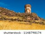 landscape of a inca grave tower ... | Shutterstock . vector #1148798174
