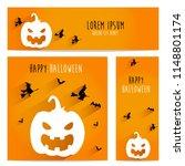 happy halloween vector ... | Shutterstock .eps vector #1148801174