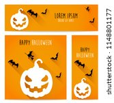 happy halloween vector ... | Shutterstock .eps vector #1148801177