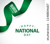 happy saudi arabia independent... | Shutterstock .eps vector #1148804687