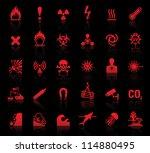 set danger red icons | Shutterstock .eps vector #114880495