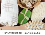 Spa Treatments as a background close up - stock photo