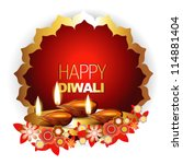 beautiful diwali vector... | Shutterstock .eps vector #114881404