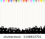 a crowd of people. vector... | Shutterstock .eps vector #1148823701
