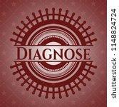 diagnose red emblem | Shutterstock .eps vector #1148824724
