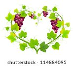 grapes with leaves in the form... | Shutterstock .eps vector #114884095