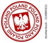 poland stamp | Shutterstock .eps vector #114884311
