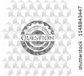 question realistic grey emblem... | Shutterstock .eps vector #1148843447