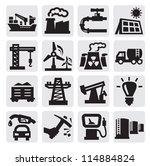 vector black industry icons set ... | Shutterstock .eps vector #114884824