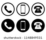 mobile phone  telephone ... | Shutterstock .eps vector #1148849531