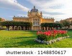 king tomislav park in zagreb on ... | Shutterstock . vector #1148850617