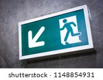 a front view exit sign witch... | Shutterstock . vector #1148854931
