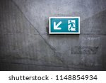 a front view exit sign witch...   Shutterstock . vector #1148854934
