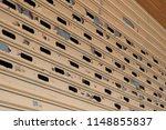 stainless rolling shutter door... | Shutterstock . vector #1148855837