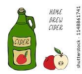 apple cider glass vintage...   Shutterstock .eps vector #1148861741