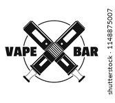modern vape bar logo. simple... | Shutterstock .eps vector #1148875007