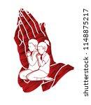 prayer  christian praying... | Shutterstock .eps vector #1148875217