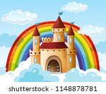 a beautiful castle on the cloud ... | Shutterstock .eps vector #1148878781
