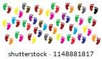 baby footprints human shoes... | Shutterstock .eps vector #1148881817