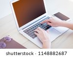 university asian young typing... | Shutterstock . vector #1148882687