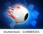 3d rendering human eye... | Shutterstock . vector #1148885201