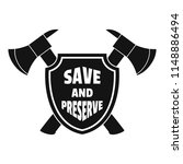 save and preserve logo. simple... | Shutterstock .eps vector #1148886494