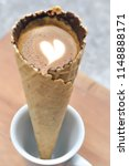 coffee waffle cone or hot... | Shutterstock . vector #1148888171