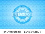 free admission water badge. | Shutterstock .eps vector #1148893877