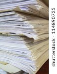 old office papers | Shutterstock . vector #114890725