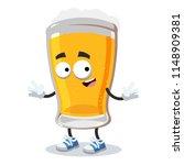cartoon happy glass of beer... | Shutterstock .eps vector #1148909381