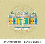 red fort of india   Shutterstock .eps vector #1148916887