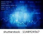 2d rendering stock market... | Shutterstock . vector #1148924567
