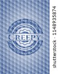 creepy blue emblem with... | Shutterstock .eps vector #1148935874
