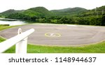 helicopter landing area on the... | Shutterstock . vector #1148944637