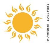 sun icon tribal as vector on a... | Shutterstock .eps vector #1148954861