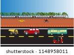 vector illustration of footpath | Shutterstock .eps vector #1148958011