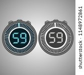 electronic digital stopwatch....   Shutterstock .eps vector #1148972861