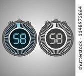 electronic digital stopwatch.... | Shutterstock .eps vector #1148972864