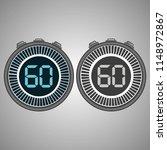 electronic digital stopwatch.... | Shutterstock .eps vector #1148972867