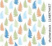 fern frond herbs  tropical... | Shutterstock .eps vector #1148974457