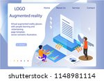virtual augmented reality... | Shutterstock .eps vector #1148981114