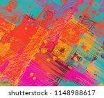 contemporary art. hand made art.... | Shutterstock . vector #1148988617