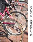 parked bikes   Shutterstock . vector #1148990