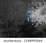 contemporary art. hand made art.... | Shutterstock . vector #1148993564