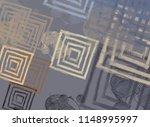 contemporary art. hand made art.... | Shutterstock . vector #1148995997