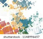 contemporary art. hand made art.... | Shutterstock . vector #1148996657