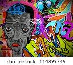 graffiti wall urban art... | Shutterstock .eps vector #114899749