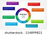concept of colorful circular... | Shutterstock .eps vector #114899821