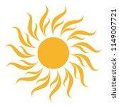 sun icon tribal as vector on a... | Shutterstock .eps vector #1149007721